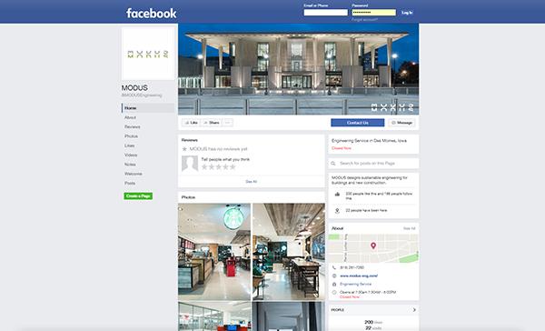 MODUS Facebook and social media